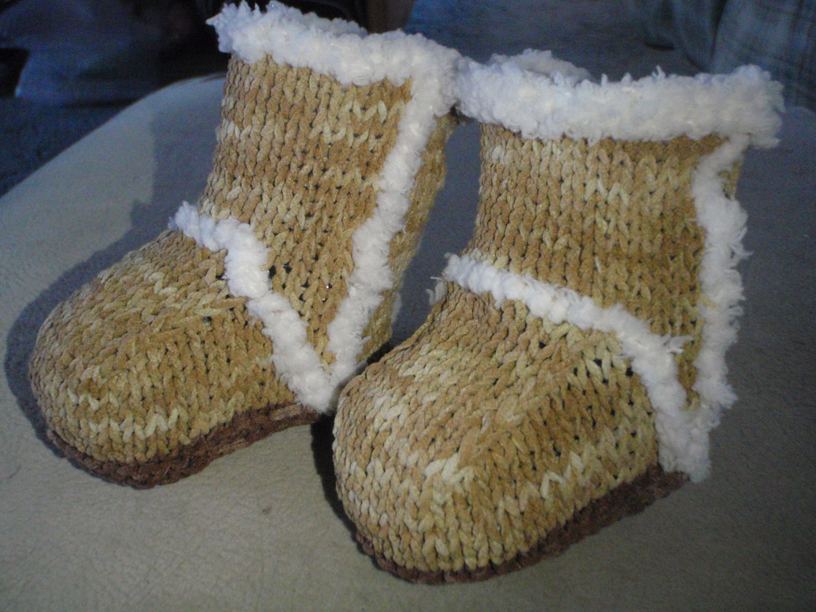 Free Baby Booties Ugg Boots Knitting Pattern